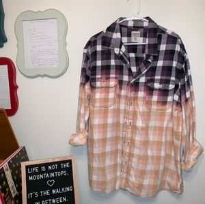 Oversized XXL Mossimo ombre plaid flannel